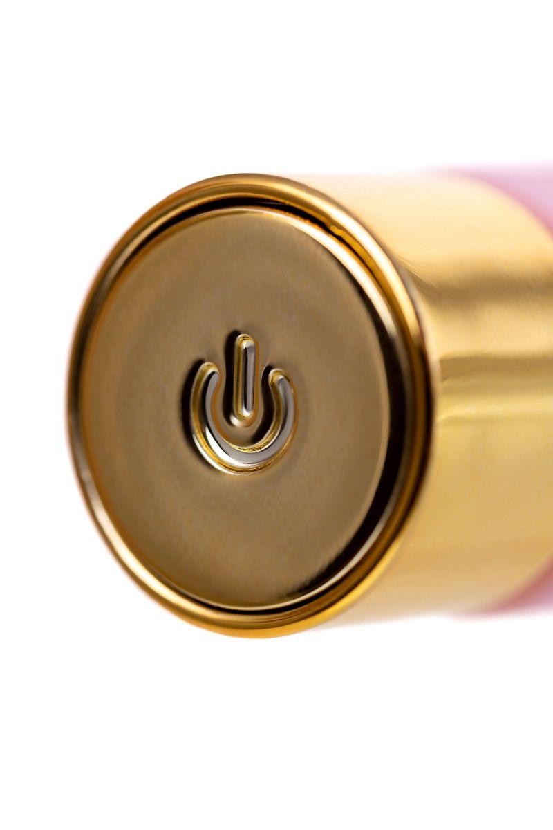 Нежно-розовый вибратор для точки G OMG - 17 см.