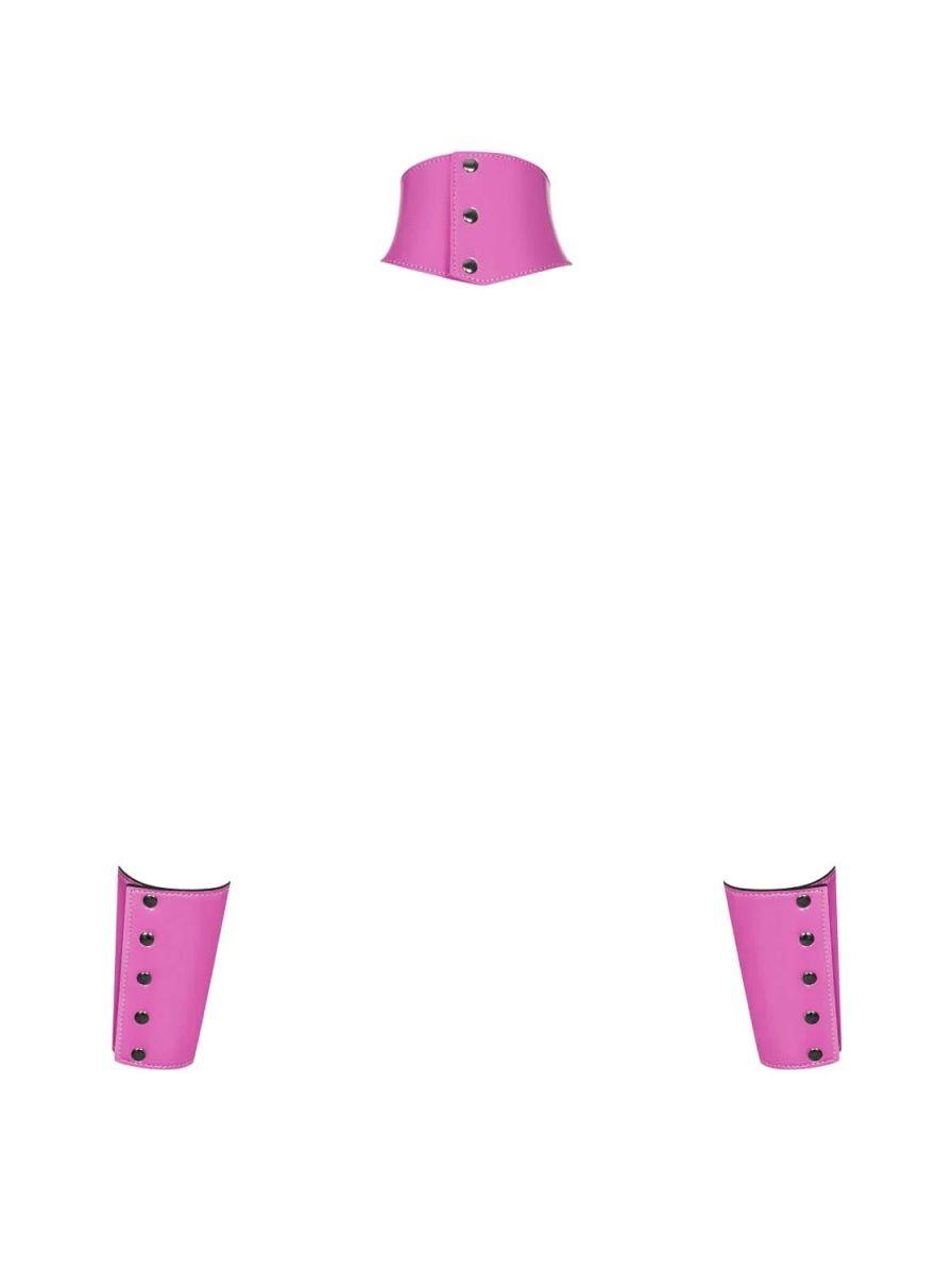 Розовый чокер Lollypopy в комплекте с наручниками