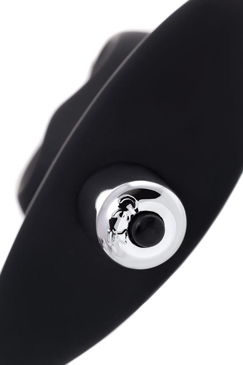 Черная вибровтулка с полой серединой в виде сердечка Cordis M - 14 см.