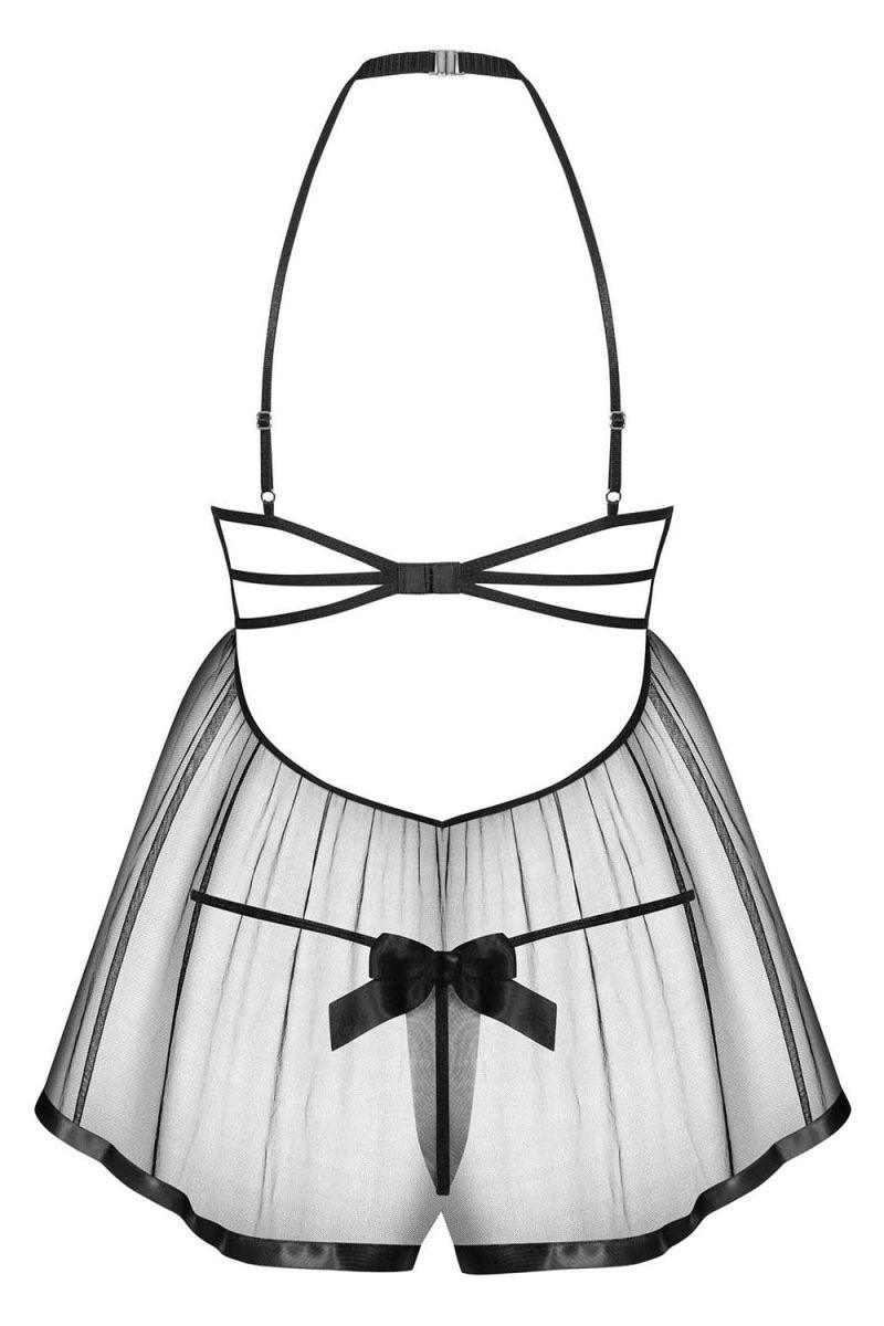 Соблазнительная полупрозрачная сорочка Delishya с бантиками