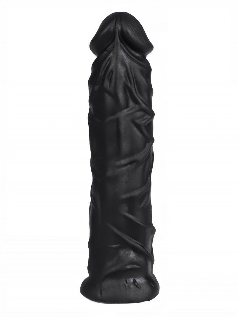 Черная насадка HARNESS для трусиков с плугом №9 - 20 см.