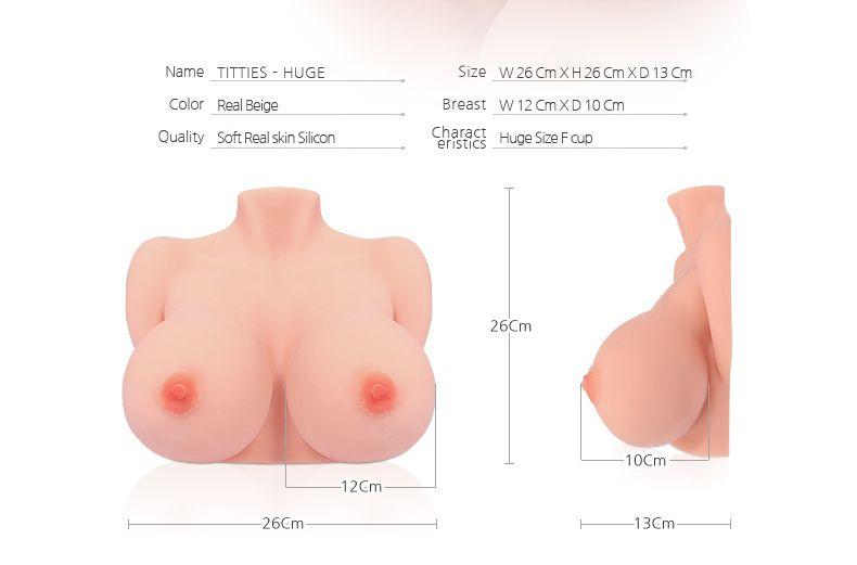 Мастурбатор-грудь в натуральную величину Bouncing Series TITTIES F