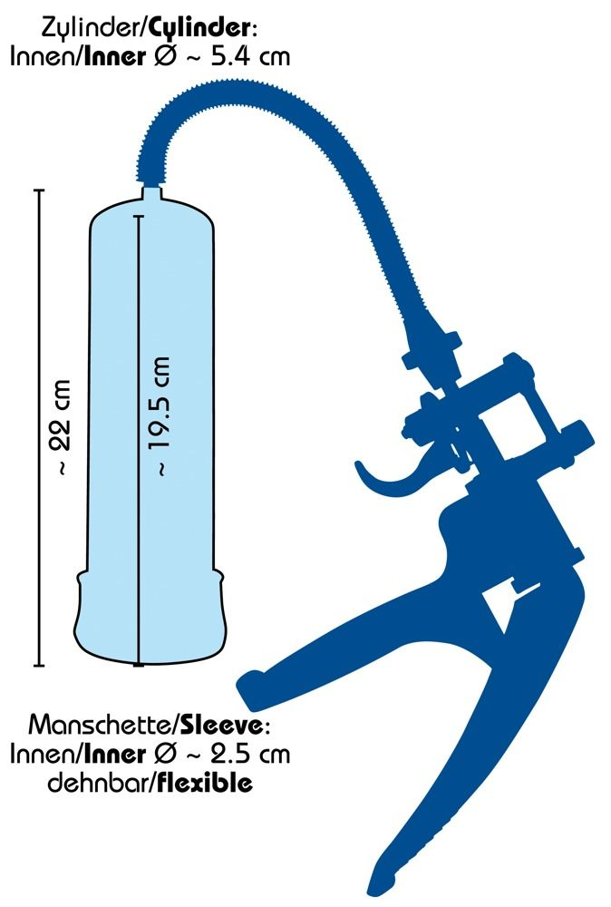 Синяя вакуумная помпа Bang Bang