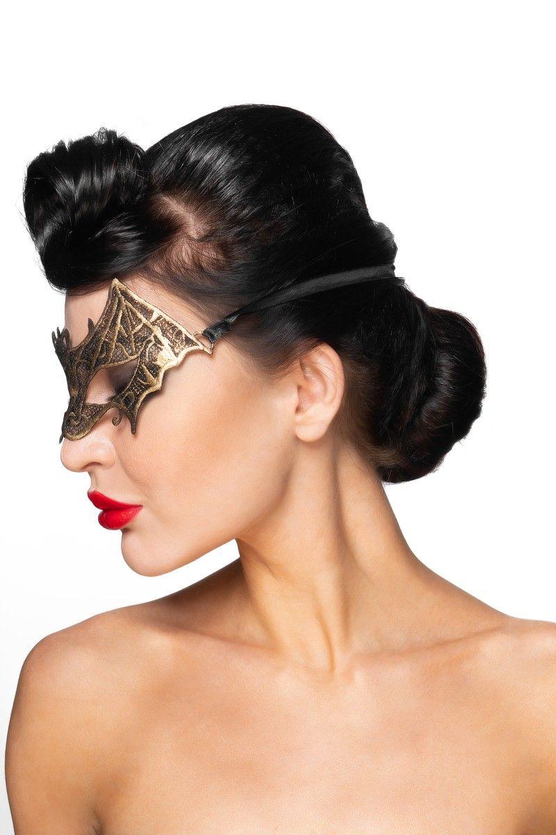 Золотистая карнавальная маска  Сириус