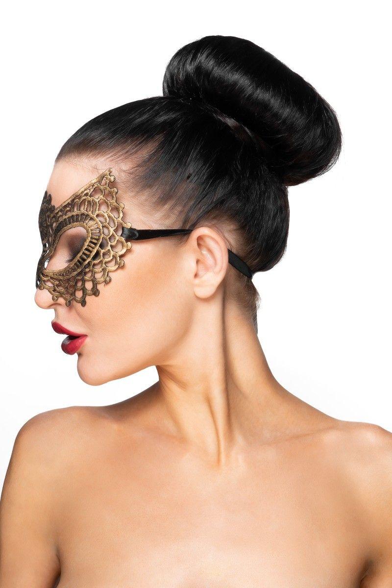 Золотистая карнавальная маска  Фейт