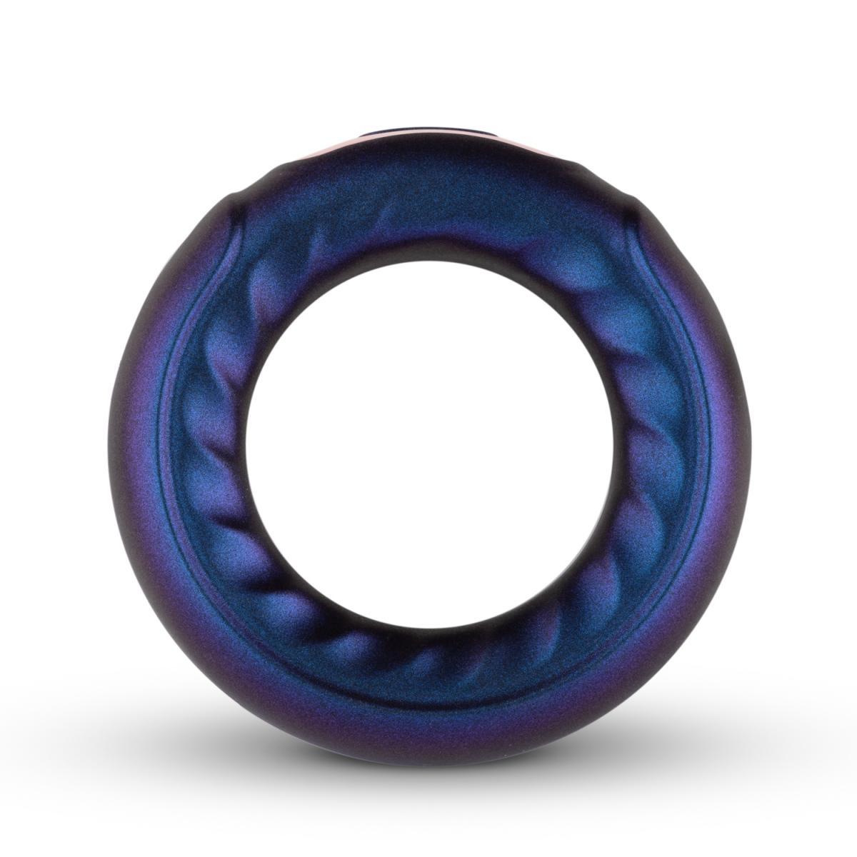 Фиолетовое эрекционное виброкольцо Saturn Vibrating Cock/Ball Ring