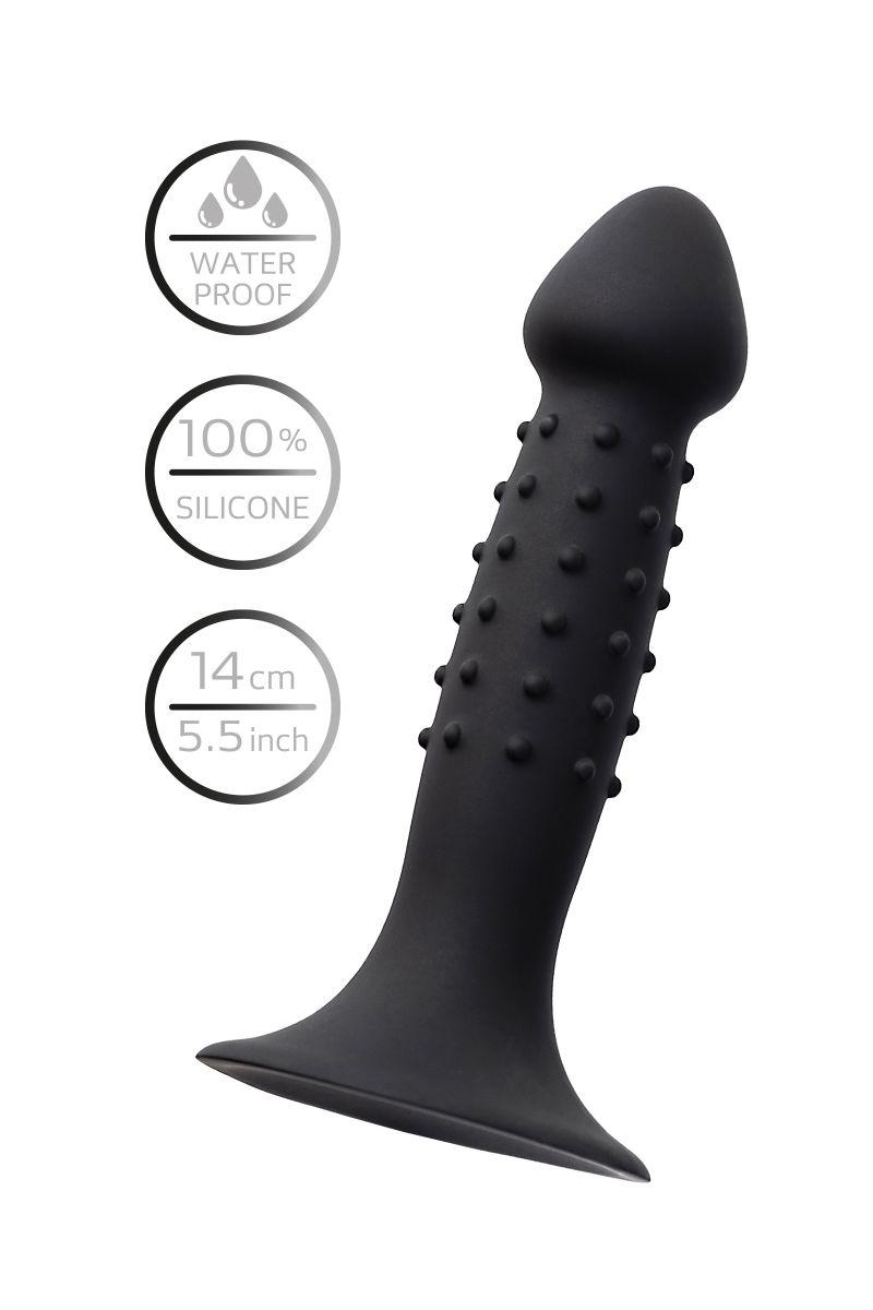 Черный анальный фаллоимитатор Spikn - 14 см.