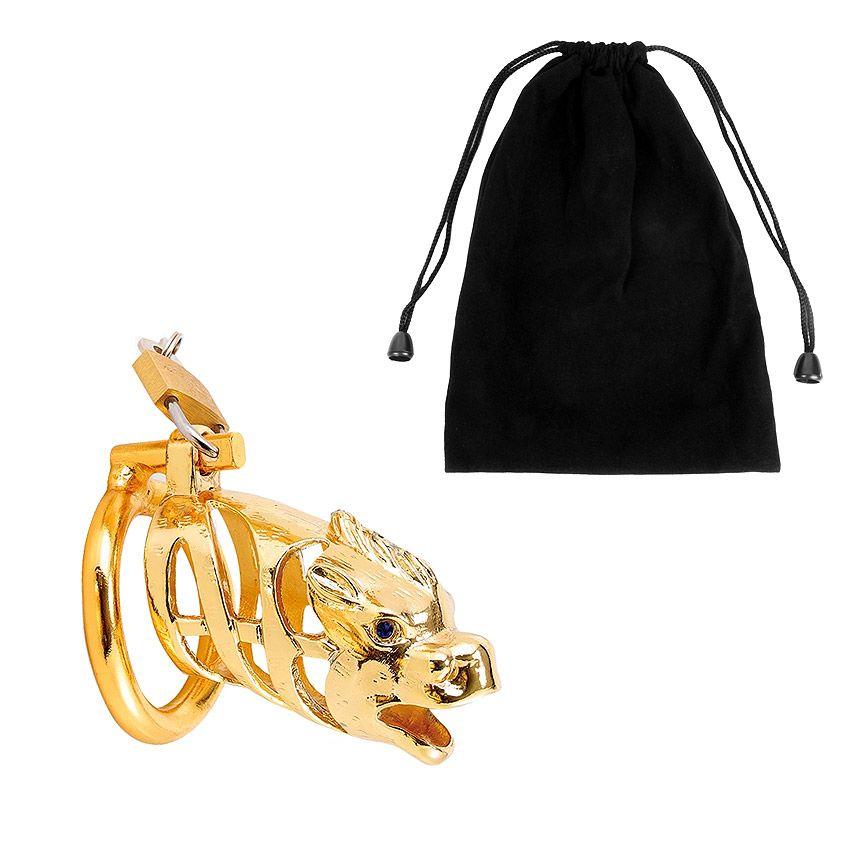 Золотистый сувенирный пояс верности в виде дракона