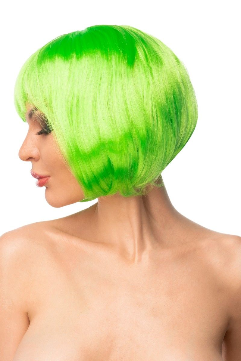 Салатовый парик  Морико