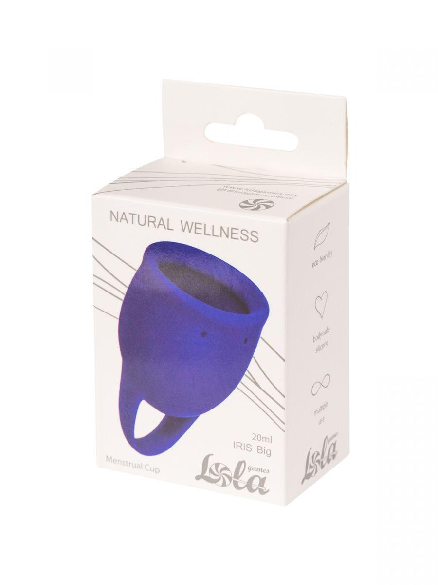 Синяя менструальная чаша Iris - 20 мл.