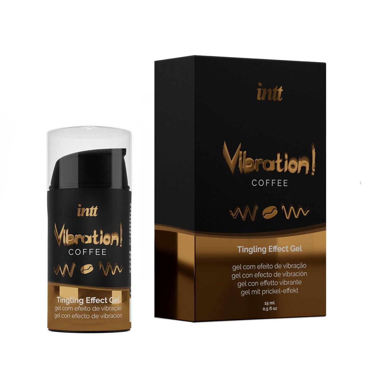 Жидкий интимный гель с эффектом вибрации Vibration! Coffee - 15 мл.
