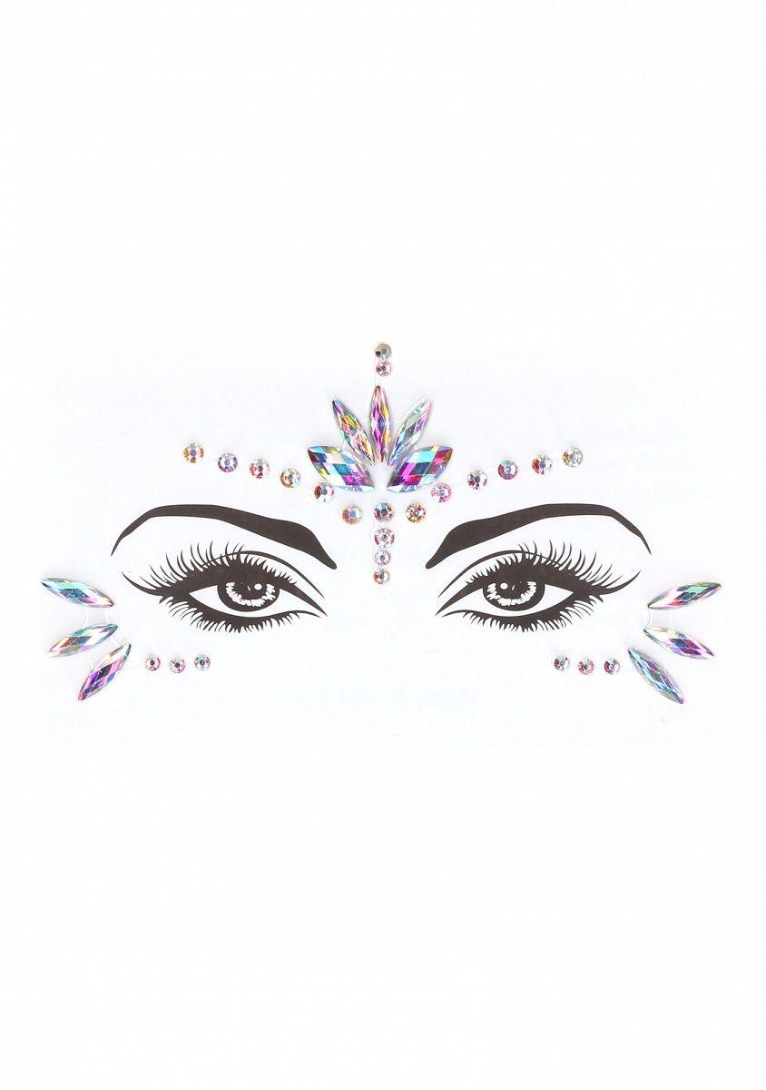 Эротический комплект с наклейкой на лицо Bra Set With Garters   Dazzling Sticker