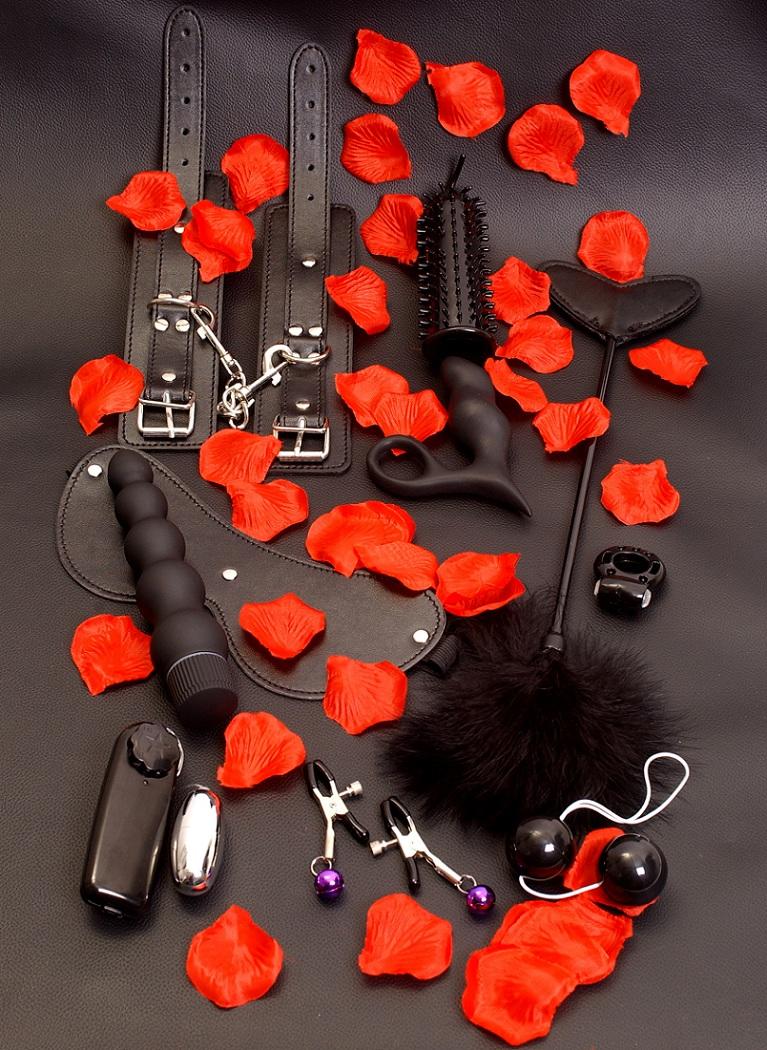 Элегантный набор чёрных вибраторов AMAZING PLEASURE