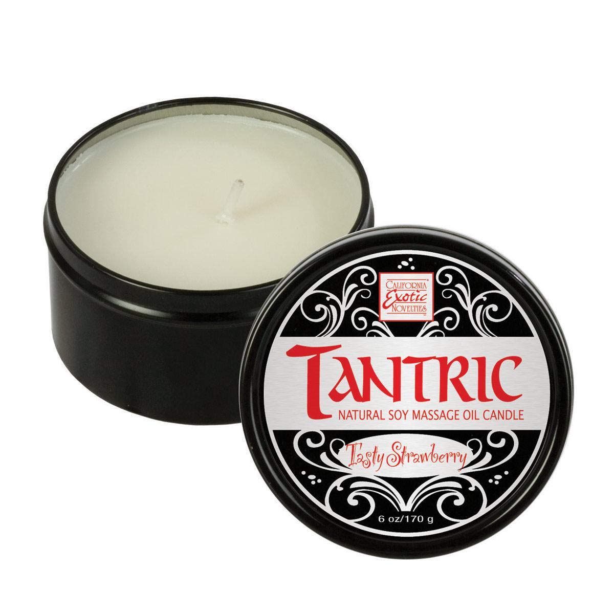 Массажная свеча с ароматом клубники Tantric Soy Candle Tasty Strawberry