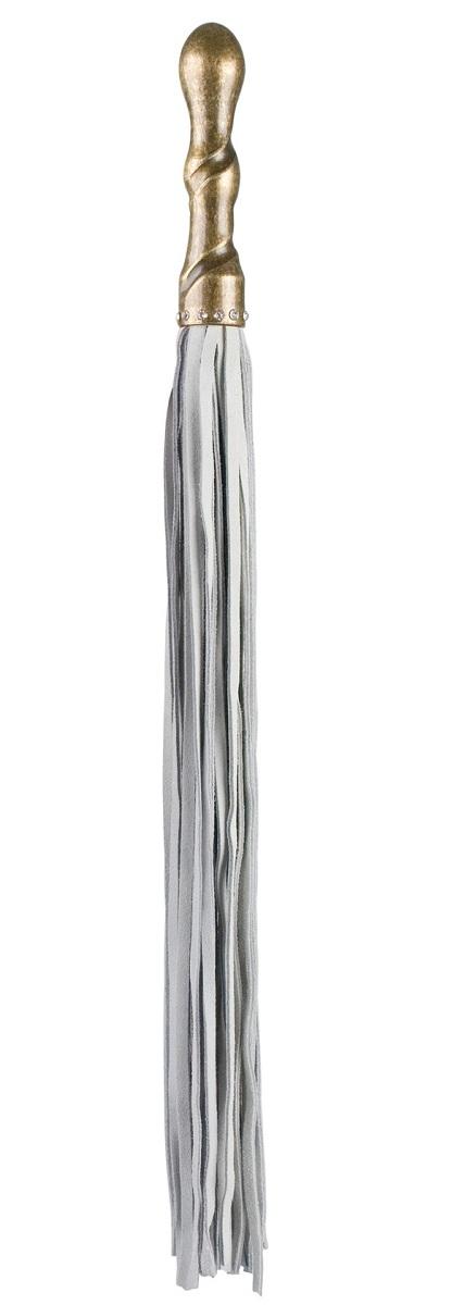 Белая плетка Luxury Whip Copper с покрытой медью рукоятью