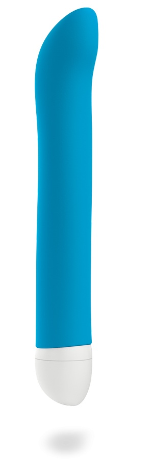 Голубой мини-вибратор Joupie - 18,2 см.