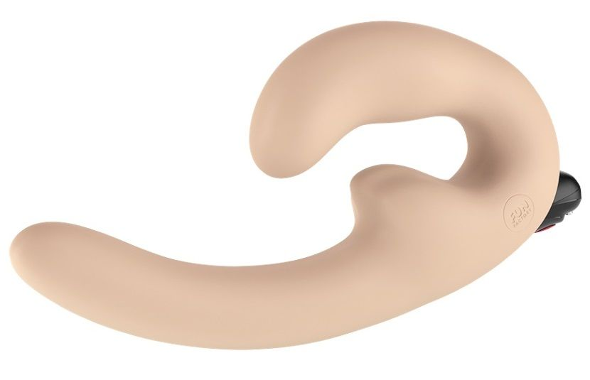 Телесный страпон с вибрацией Sharevibe - 22 см.
