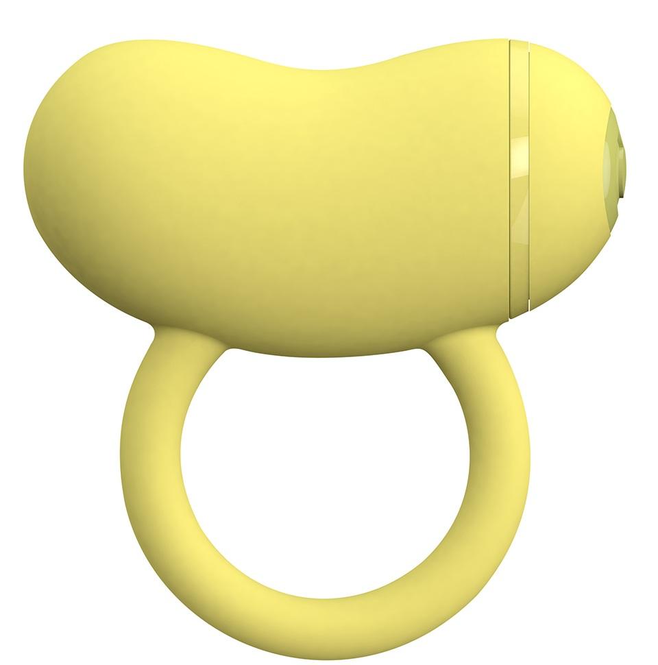Желтое виброкольцо на пенис ENZO COUPLES RING