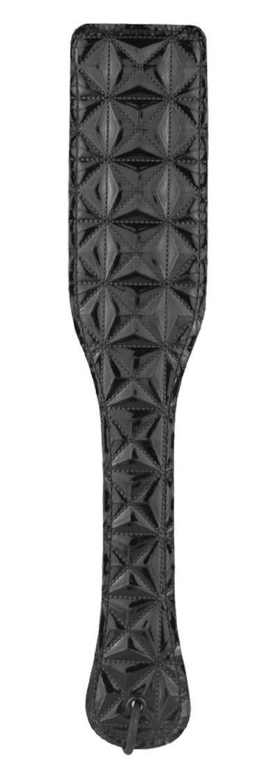 Чёрный пэддл с геометрическим узором - 32 см.