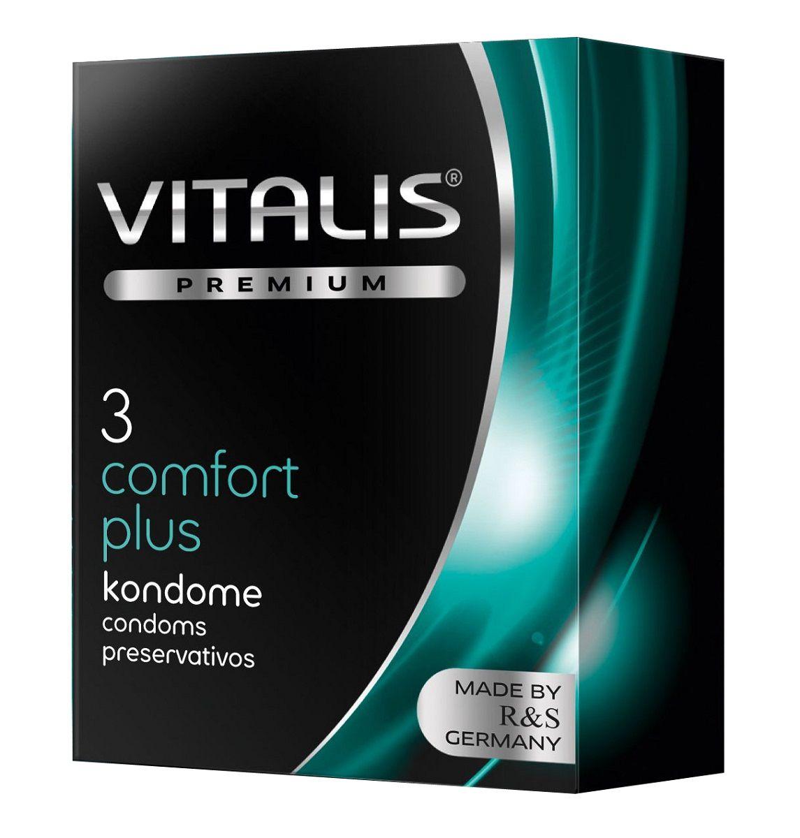 Контурные презервативы VITALIS PREMIUM comfort plus - 3 шт. - фото 136933