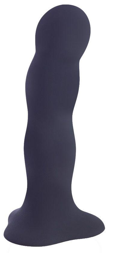 Чёрный фаллоимитатор BOUNCER - 18 см.