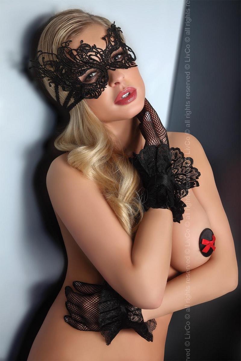 Изысканная чёрная маска на глаза