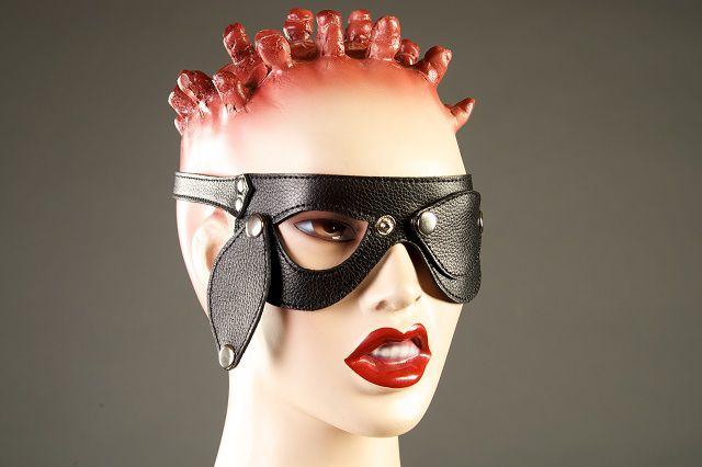 Кожаные очки со съемными шорами