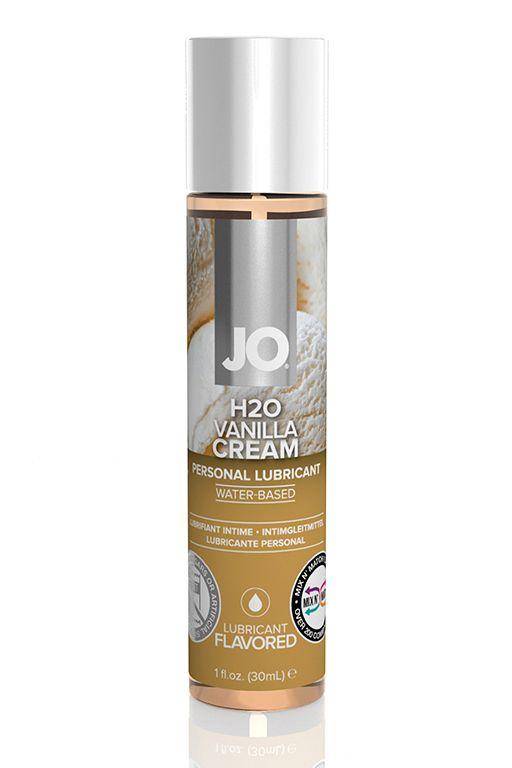 Ароматизированный лубрикант на водной основе JO Flavored Vanilla H2O - 30 мл.