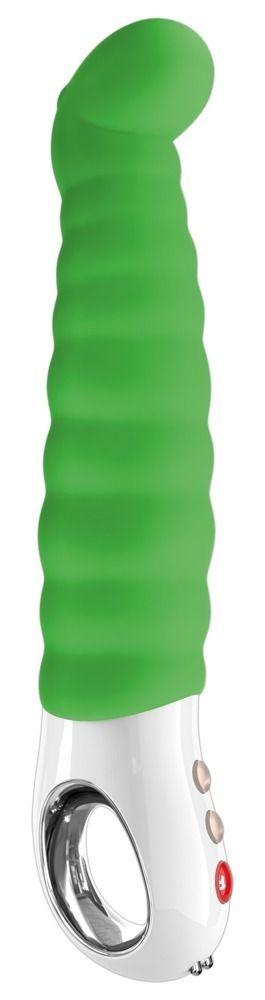 Зелёный перезаряжаемый вибратор Patchy Paul G5 - 23 см. 1101071 от Fun Factory