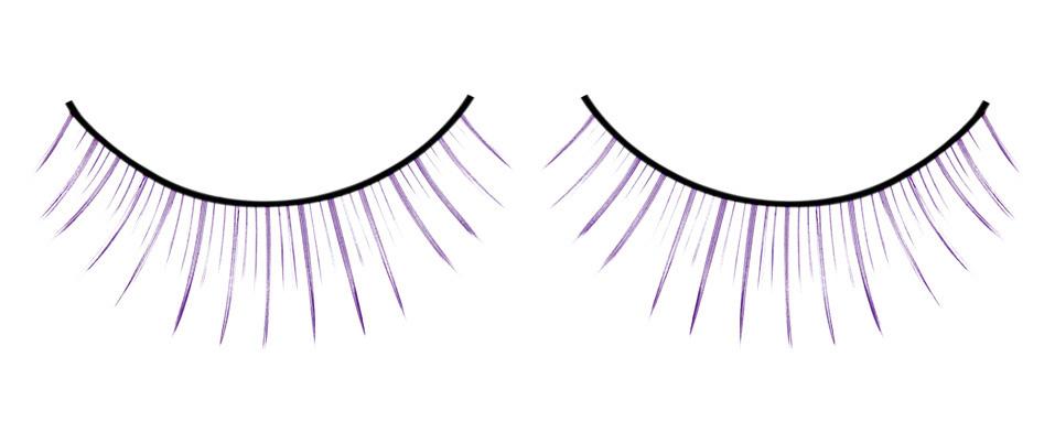 Длинные фиолетовые накладные ресницы Deluxe