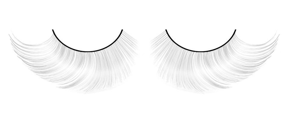 Бело-серые ресницы-перья