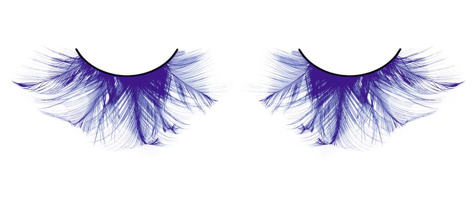 Голубые пушистые ресницы-перья
