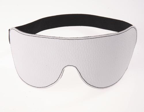 Белая кожаная маска на глаза