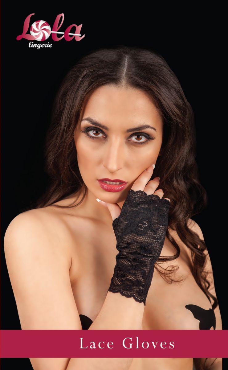 Ажурные перчатки с открытыми пальчиками
