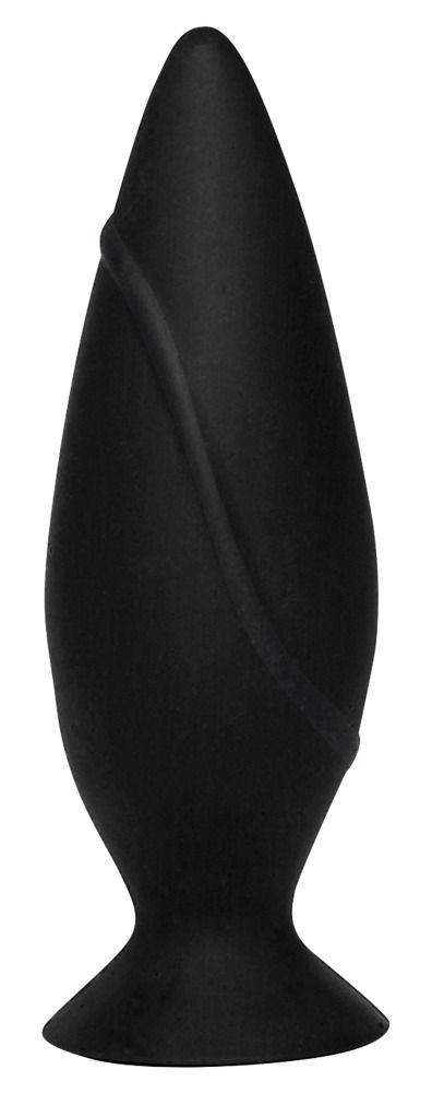 Черная анальная втулка с присоской - 9,7 см. 0503690 от Orion