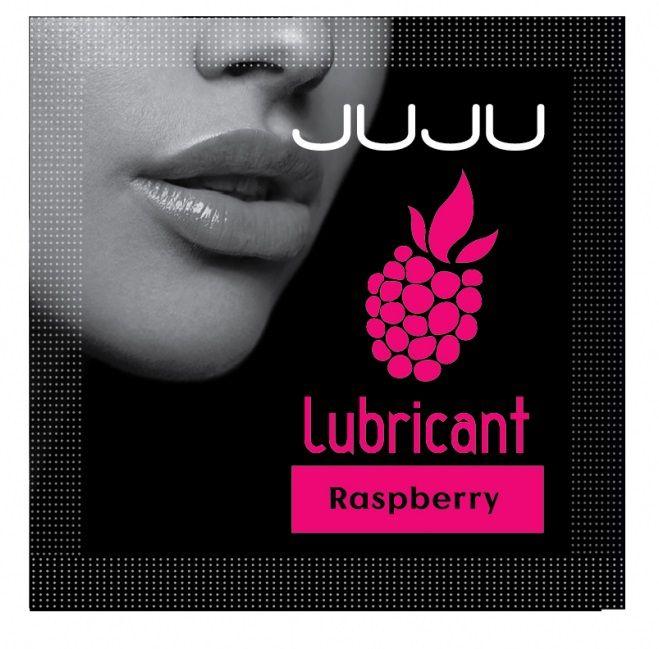 Пробник съедобного лубриканта JUJU с ароматом малины - 3 мл.