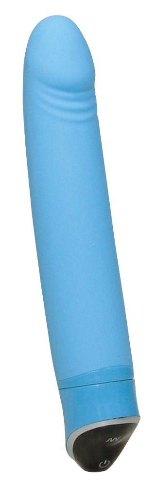 Голубой вибратор Smile Happy - 22 см.