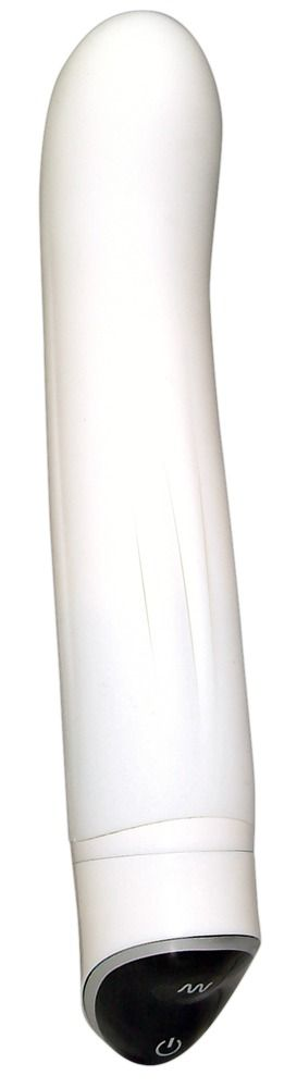 Белоснежный вибратор Smile Easy из силикона - 22 см.