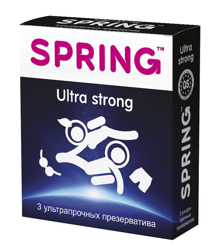 Ультрапрочные презервативы SPRING ULTRA STRONG - 3 шт. SPRING ULTRA STRONG №3 от SPRING