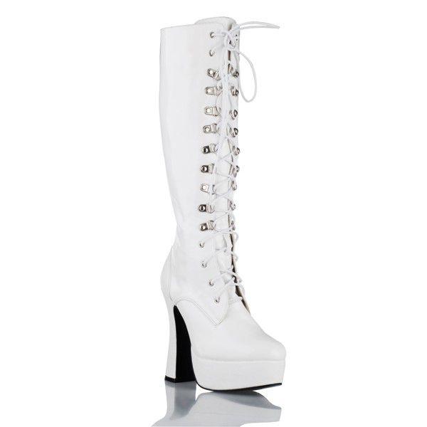 Высокие сапоги на устойчивом каблуке и шнуровке - фото 142425