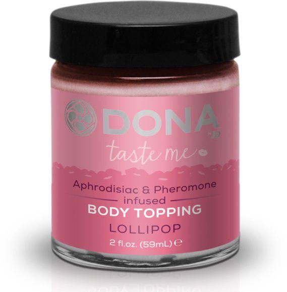Топпинг для тела DONA Lollipop с ароматом леденцов - 59 мл.