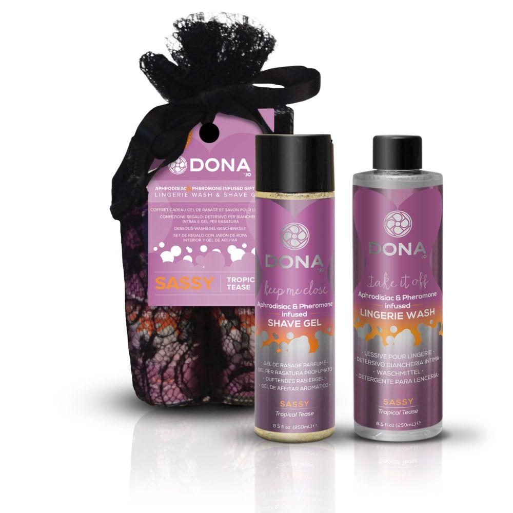 Подарочный набор DONA Be Sexy Gift Set Sassy: гель для бритья и кондиционер для белья