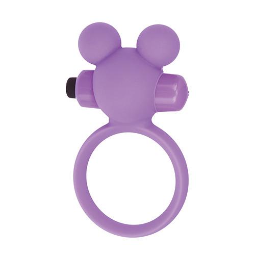 Фиолетовое эрекционное виброкольцо TEDDY COCKRING SILICONE
