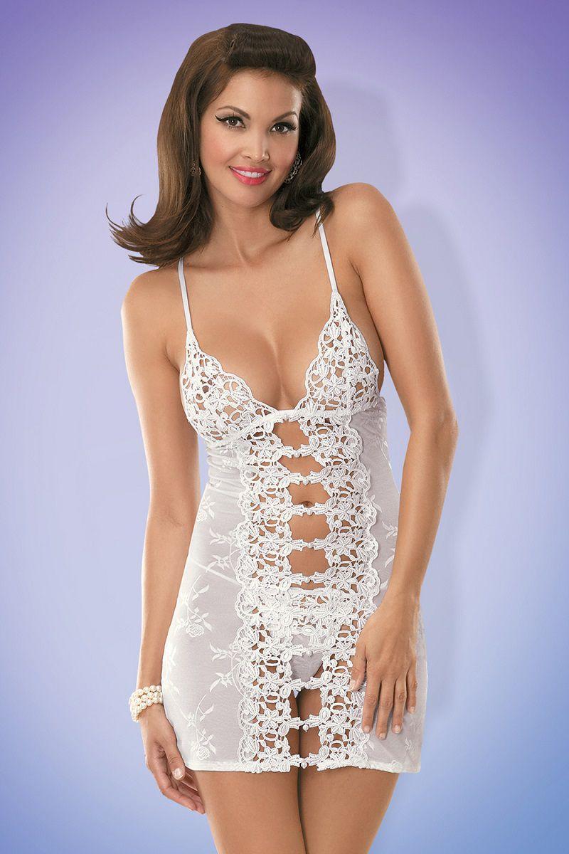 Женственная сорочка с гипюром Bride chemise
