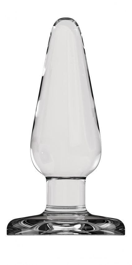 Гладкий прозрачный анальный стимулятор Bottom Line Model 1 - 13 см.