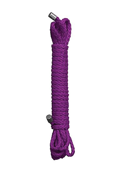 Фиолетовая веревка для бандажа Kinbaku Rope - 5 м. OU044PUR от OUCH by Shots Media BV