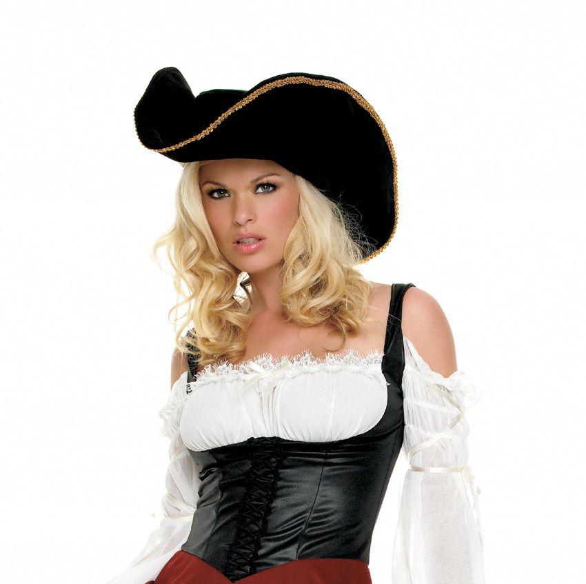 Женская пиратская шляпа