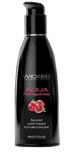Лубрикант с ароматом граната Wicked Aqua Pomegranate - 60 мл.