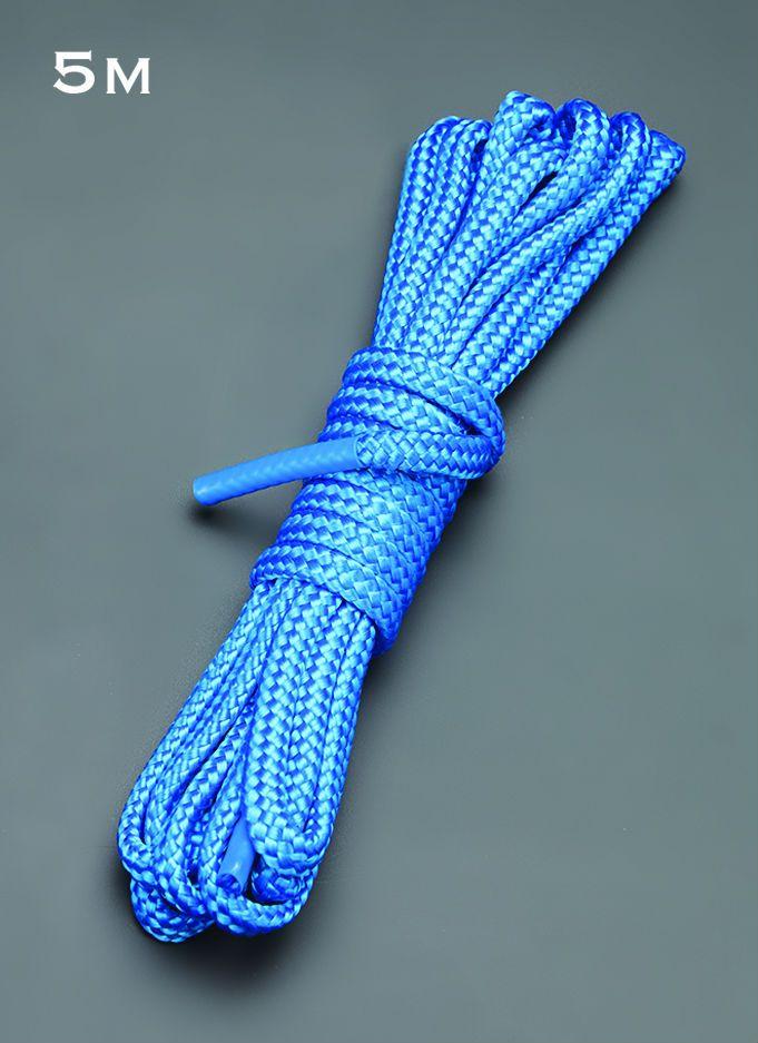 Голубая веревка для связывания - 5 м.