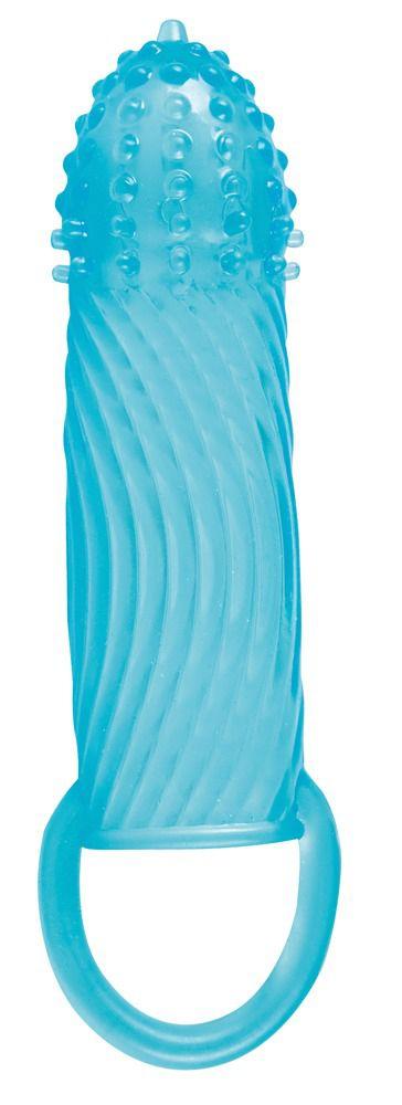 Голубая стимулирующая насадка Blue Ocean Sleeve - 18 см.